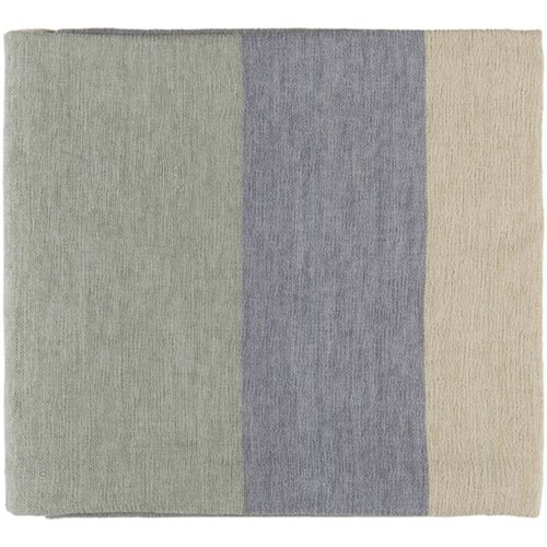 Surya Meadowlark Pale Blue, Silver Gray, Light Gray Throw Blanket, and
