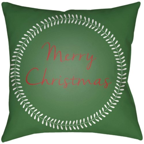 Surya Merry Christmas II 18 x 18 x 4 Made to Order