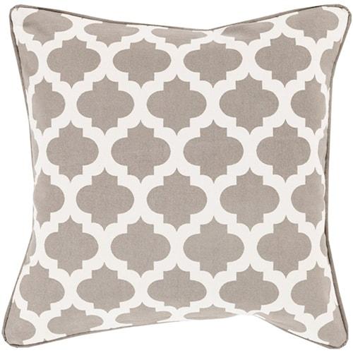 Surya Moroccan Printed Lattice 18 x 18 x 0.25 Pillow Cover