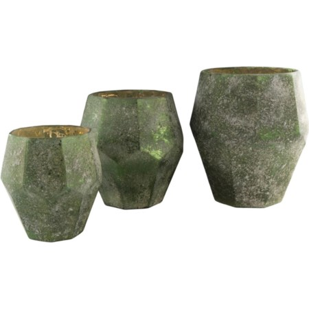 Dark Green Vase Set