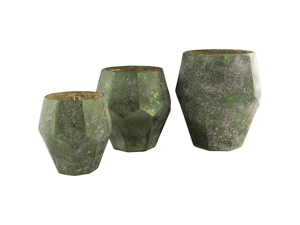 Surya NaylaDark Green Vase Set