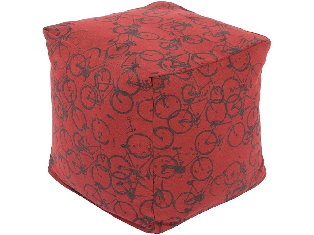 Surya Peddle Power18 x 18 x 18 Cube Pouf