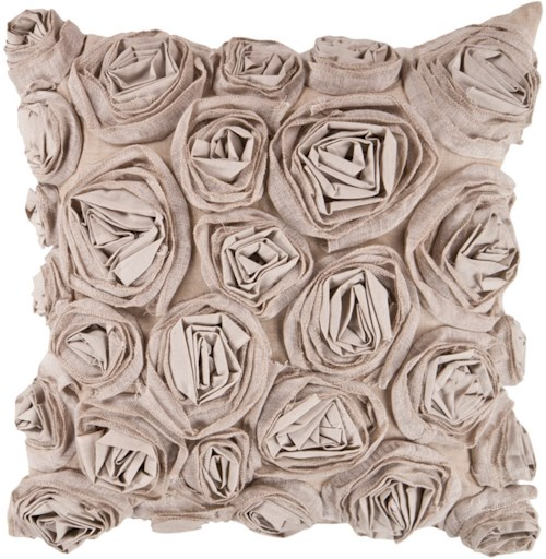 Surya Rustic Romance 22 x 22 x 0.25 Pillow Cover