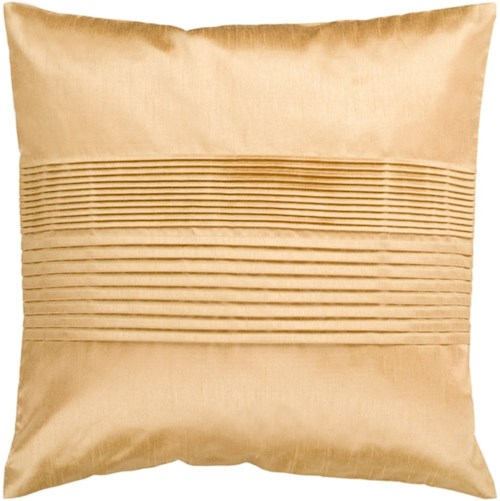 Surya Solid Pleated 22 x 22 x 0.25 Pillow Cover