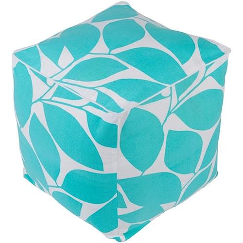 Surya Somerset 16 x 16 x 18 Cube Pouf