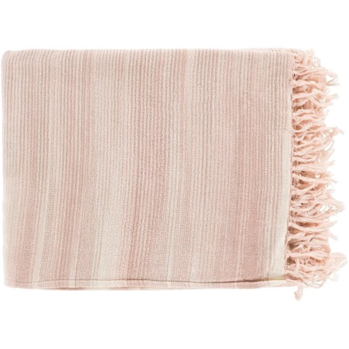 Surya Tanga Camel Pale Pink White Throw Blanket And Wayside Best Pale Pink Throw Blanket