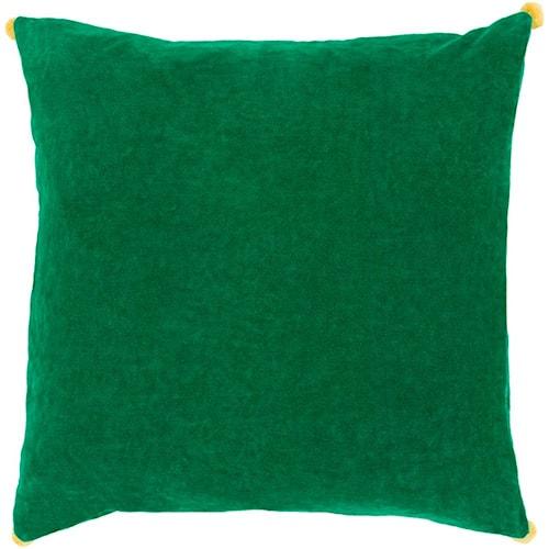 Surya Velvet Poms 10237 x 19 x 4 Pillow