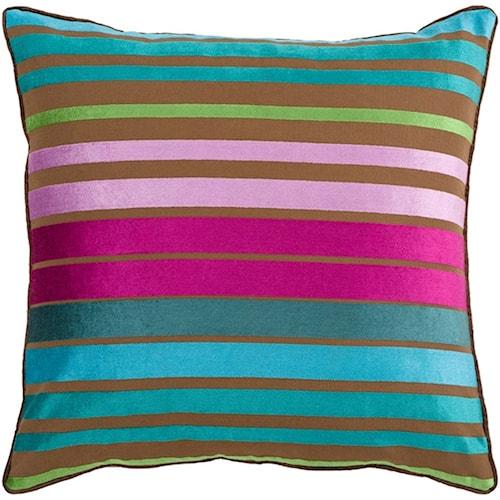 Surya Velvet Stripe 22 x 22 x 5 Pillow Kit