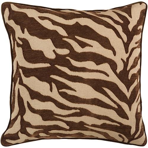 Surya Velvet Zebra 22 x 22 x 0.25 Pillow Cover