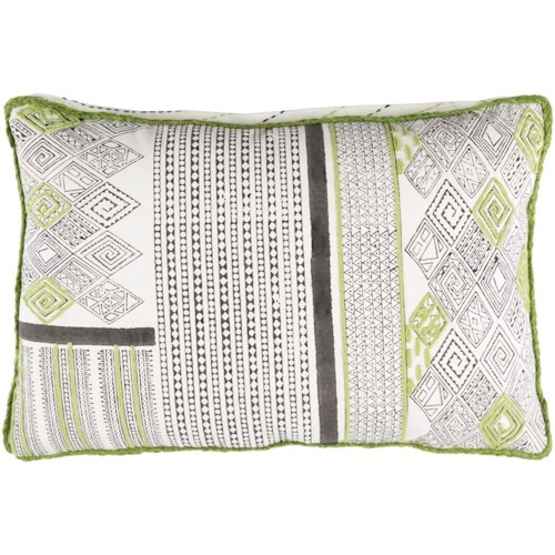 Surya Aba 13 x 19 x 4 Down Throw Pillow