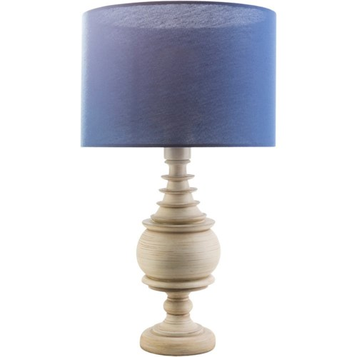 Surya Acacia Antique White Coastal Table Lamp