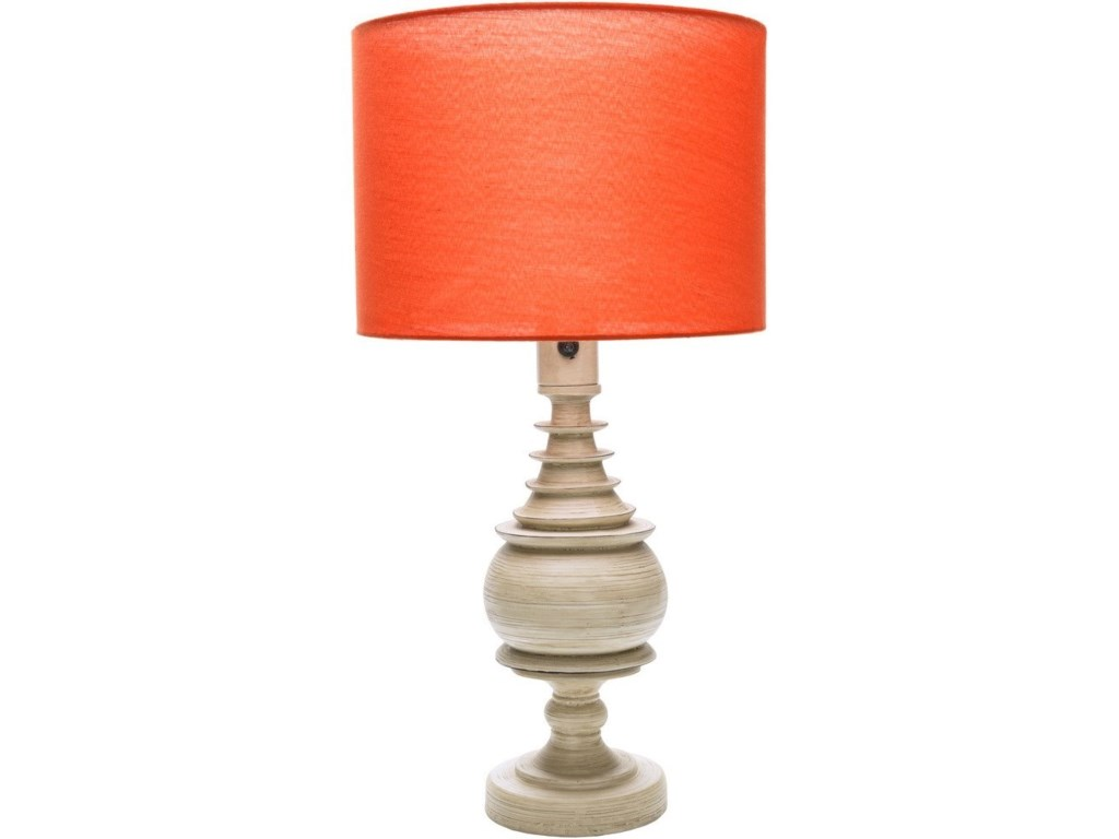 Ruby-Gordon Accents AcaciaAntique White Coastal Table Lamp