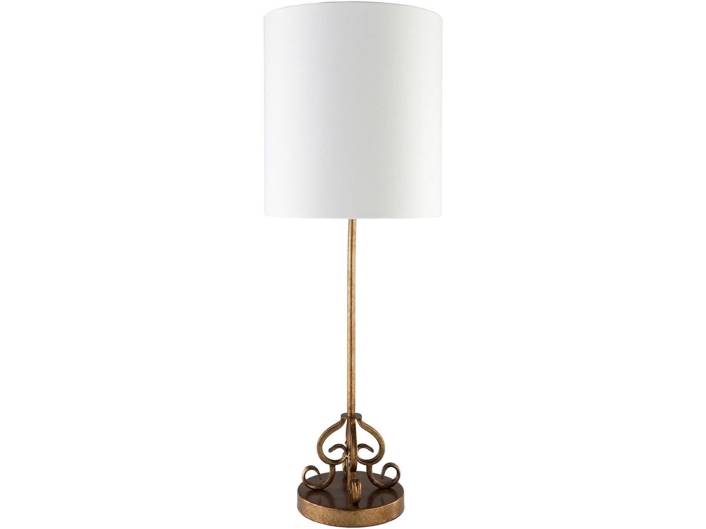 Surya AckermanPainted Gold Tint Traditional Table Lamp