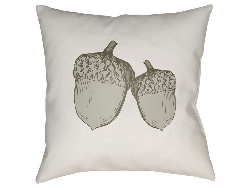 Surya Acorn20 x 20 x 4 Polyester Throw Pillow