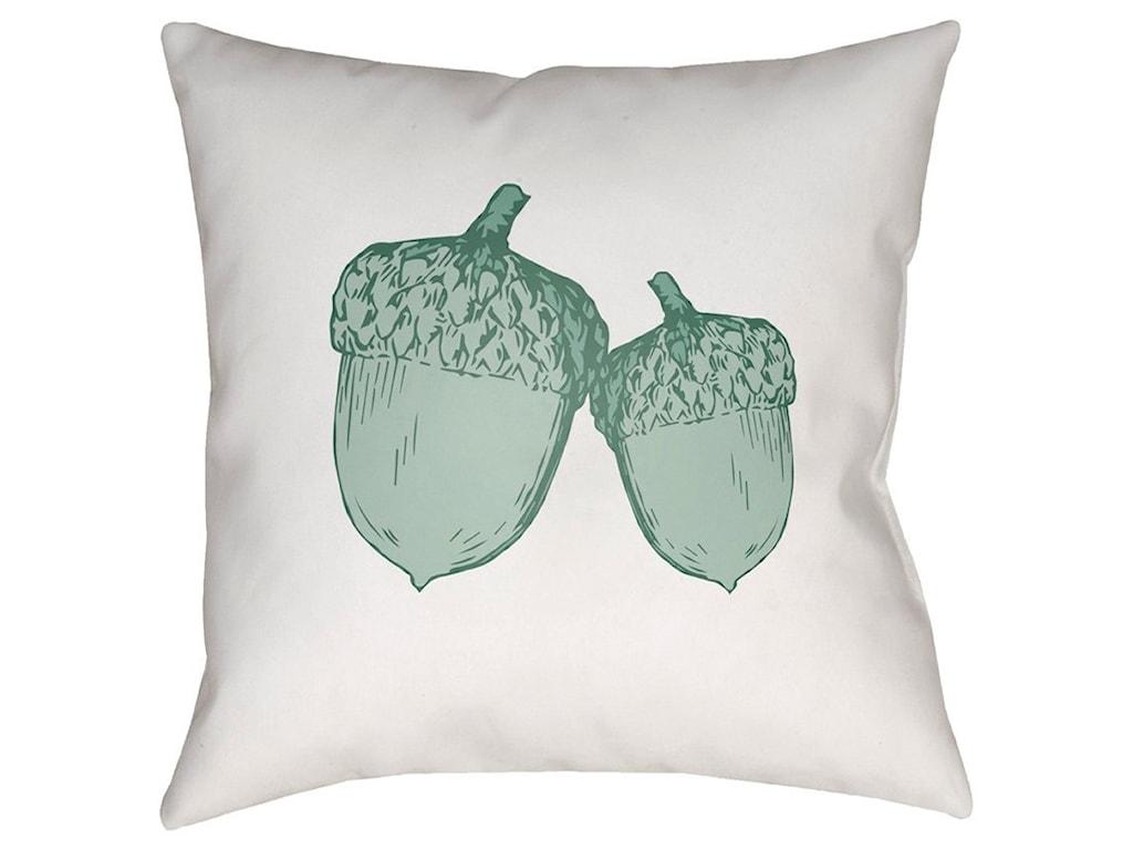 Surya Acorn18 x 18 x 4 Polyester Throw Pillow