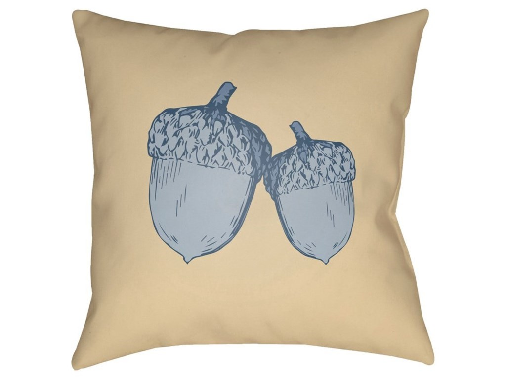 Surya Acorn20 x 20 x 4 Polyester Throw Pillow