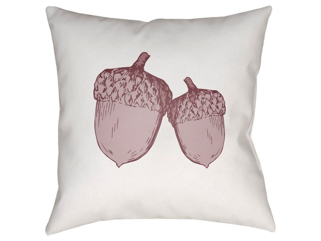 Surya Acorn18 x 18 x 4 Polyester Throw Pillow