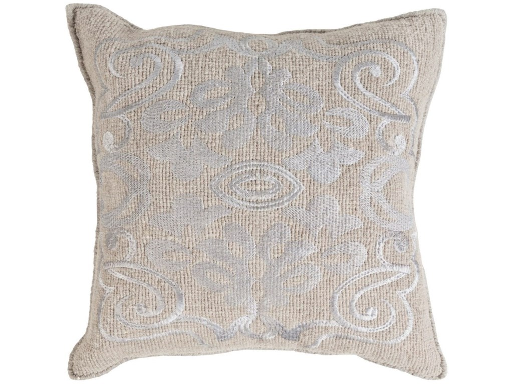 Surya Adeline18 x 18 x 4 Down Throw Pillow