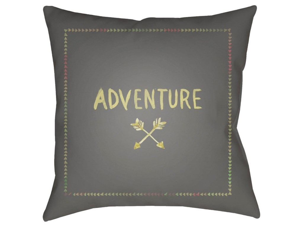 Surya Adventure II18 x 18 x 4 Polyester Throw Pillow