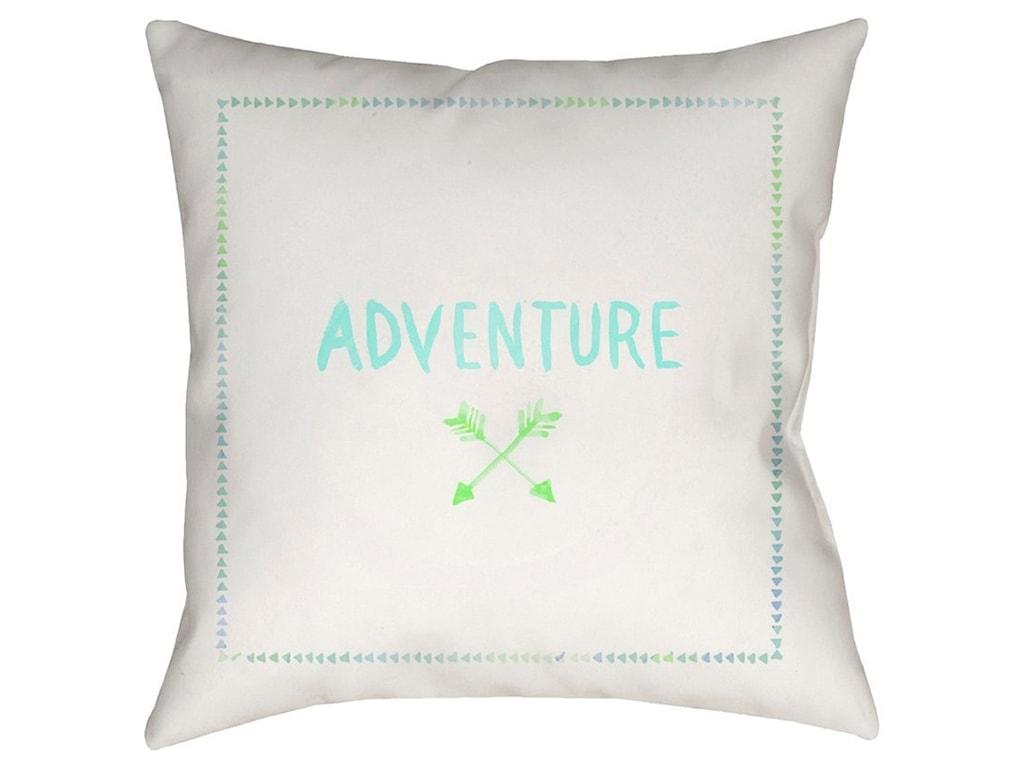 Surya Adventure II18 x 18 x 4 Polyester Throw Pillow