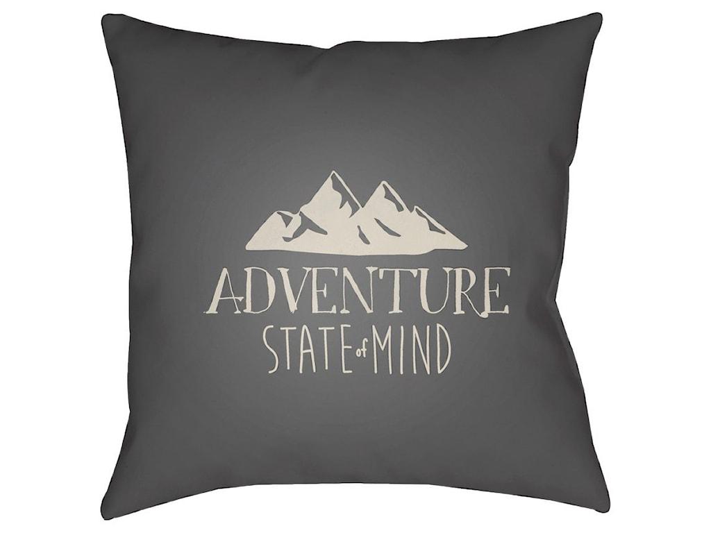 Surya Adventure III20 x 20 x 4 Polyester Throw Pillow