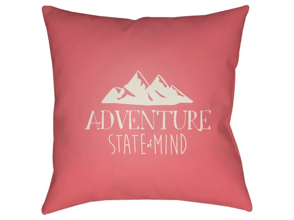 Surya Adventure III18 x 18 x 4 Polyester Throw Pillow