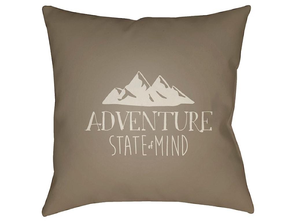 Surya Adventure III18 x 18 x 4 Polyester Throw Pillow