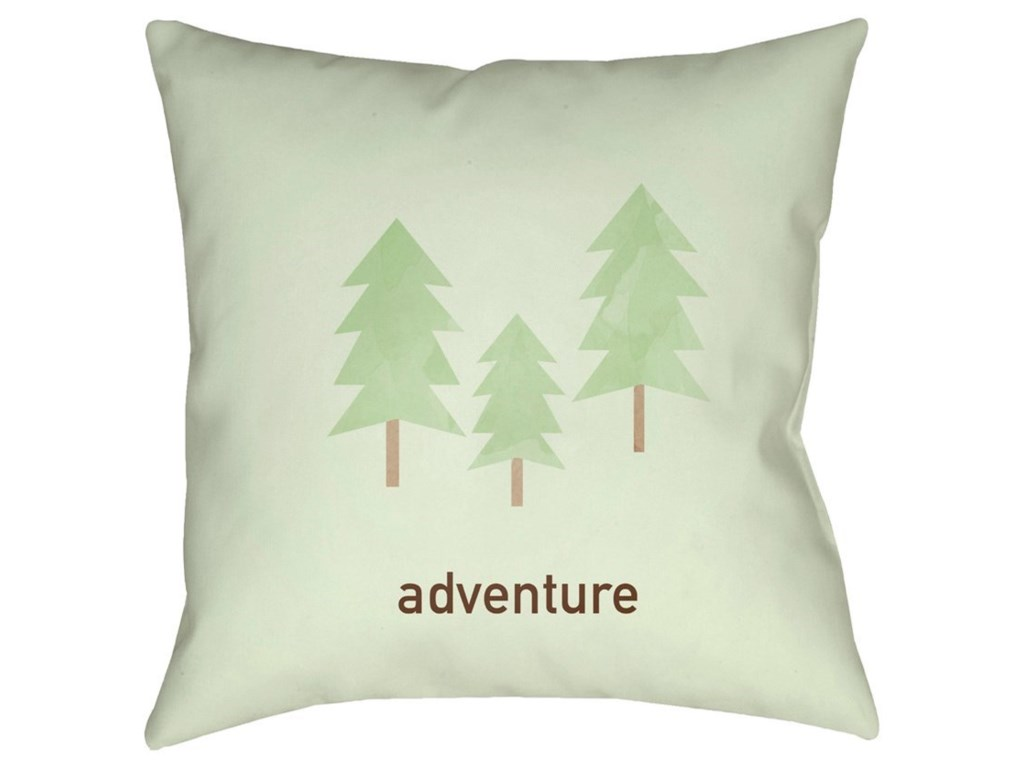 Surya Adventure20 x 20 x 4 Polyester Throw Pillow