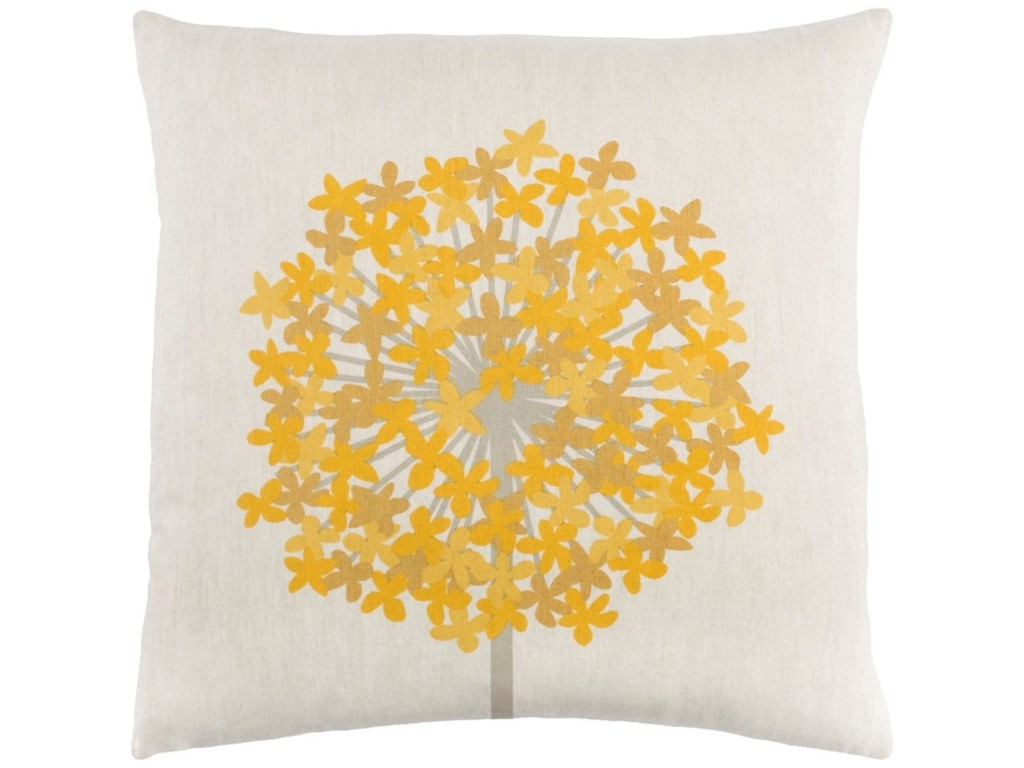 Ruby-Gordon Accents Agapanthus18 x 18 x 4 Down Throw Pillow