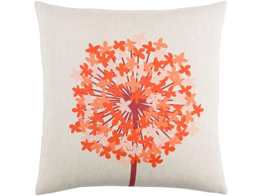 Surya Agapanthus18 x 18 x 4 Polyester Throw Pillow