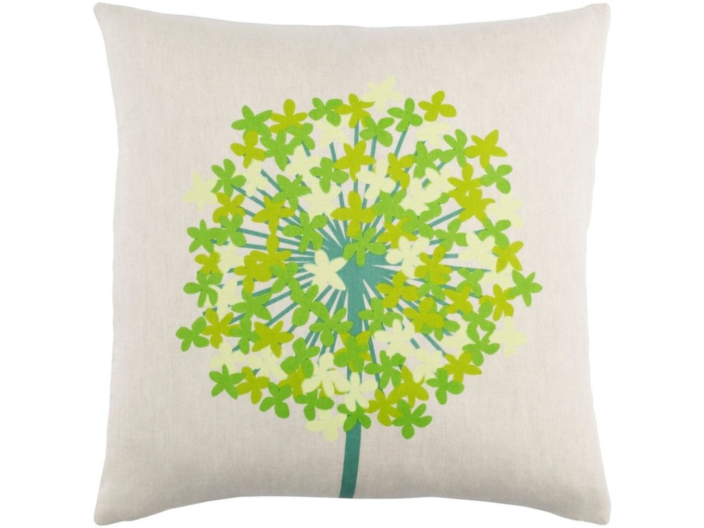 Surya Agapanthus20 x 20 x 4 Polyester Throw Pillow