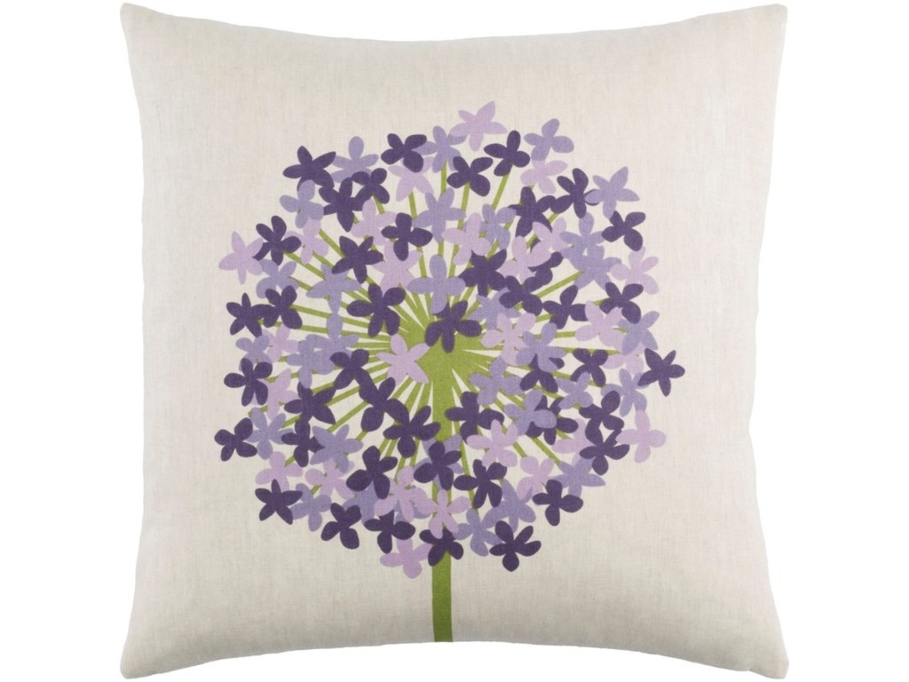 Surya Agapanthus18 x 18 x 4 Down Throw Pillow