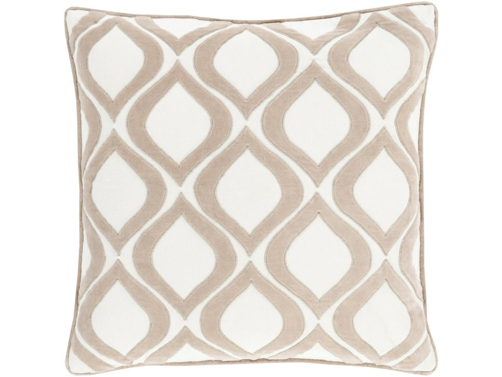9596 Alexandria18 x 18 x 4 Down Throw Pillow
