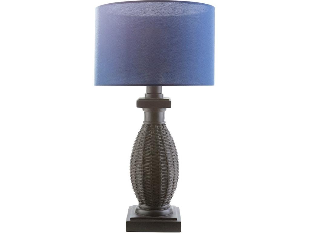 Surya AmaniBlack Coastal Table Lamp