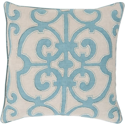 Surya Amelia 18 x 18 x 4 Down Throw Pillow