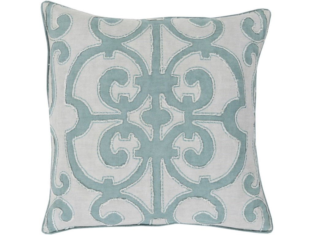 9596 Amelia20 x 20 x 4 Down Throw Pillow