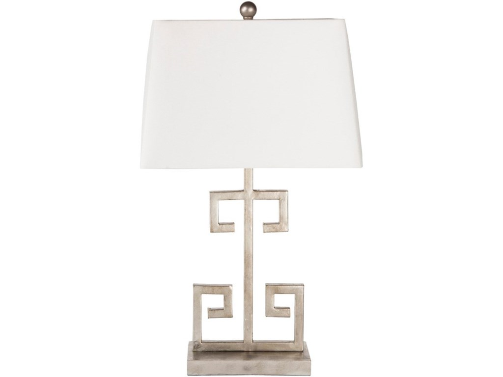 Surya AntonyAntiqued Silvertone Glam Table Lamp