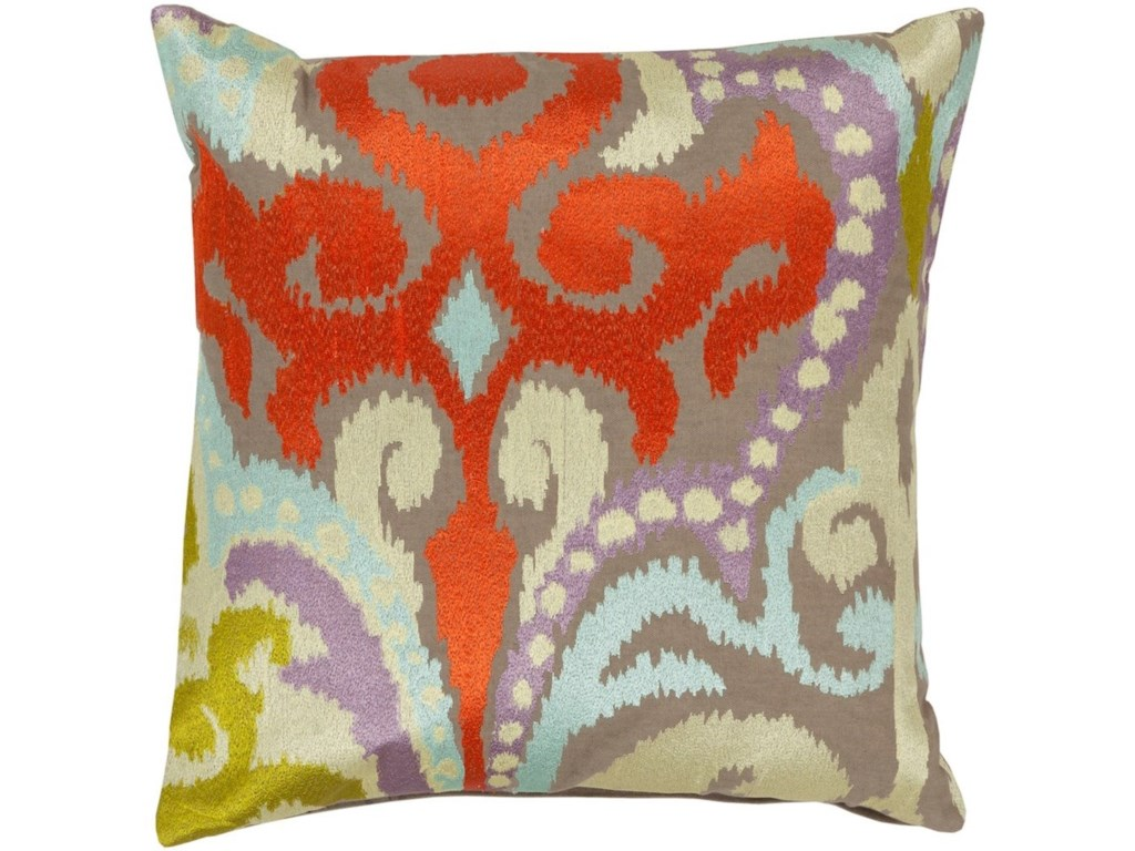 Surya Ara22 x 22 x 5 Down Throw Pillow