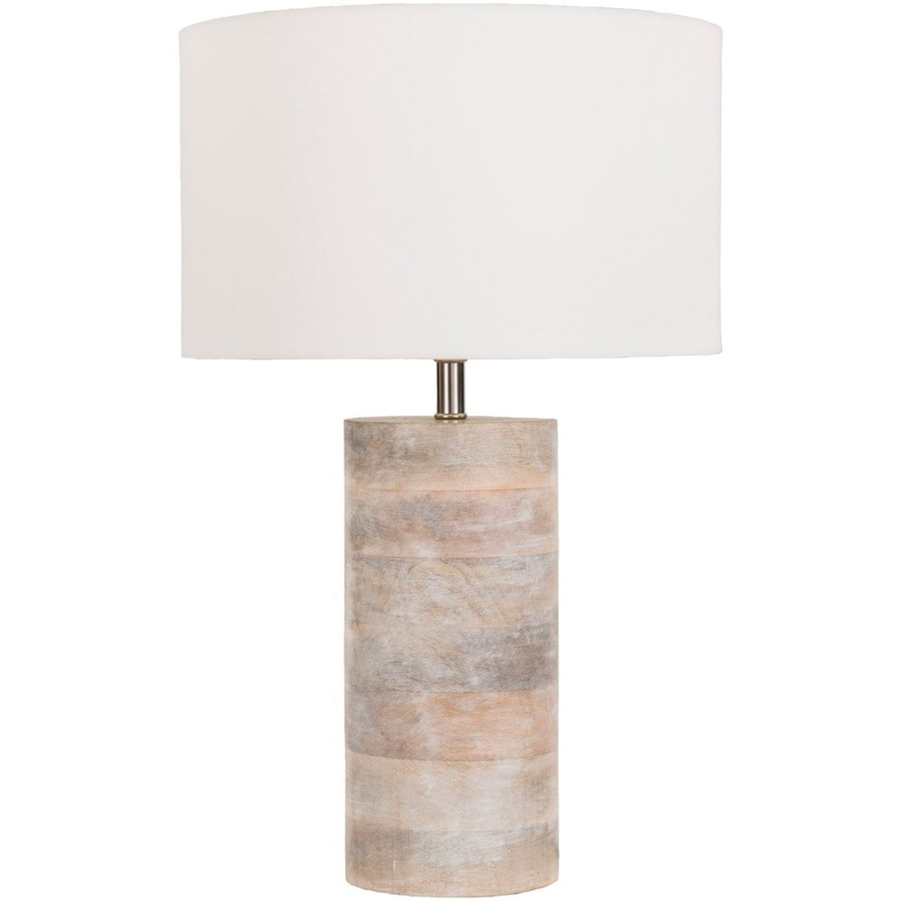 Surya Arbor Natural Finish Contemporary Table Lamp