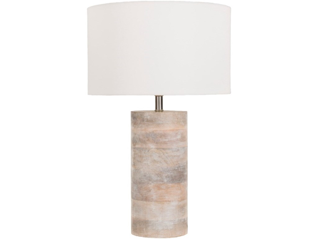 Surya ArborNatural Finish Contemporary Table Lamp