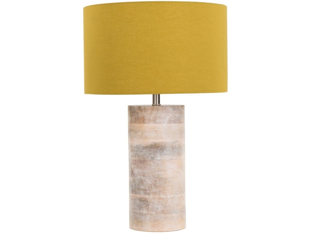 Surya ArborNatural Finish Contemporary Table Lamp