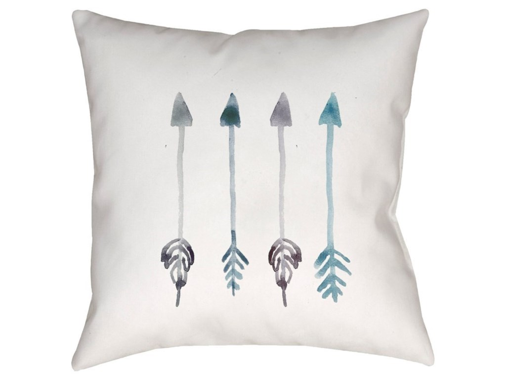 Surya Arrows20 x 20 x 4 Polyester Throw Pillow