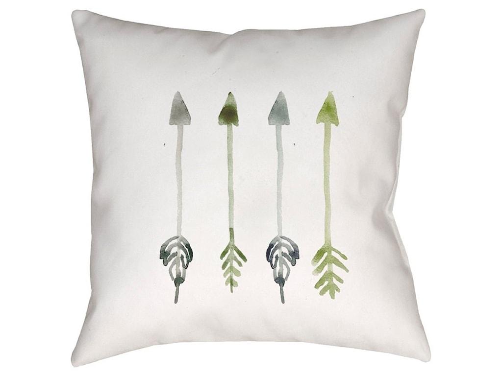 Surya Arrows18 x 18 x 4 Polyester Throw Pillow