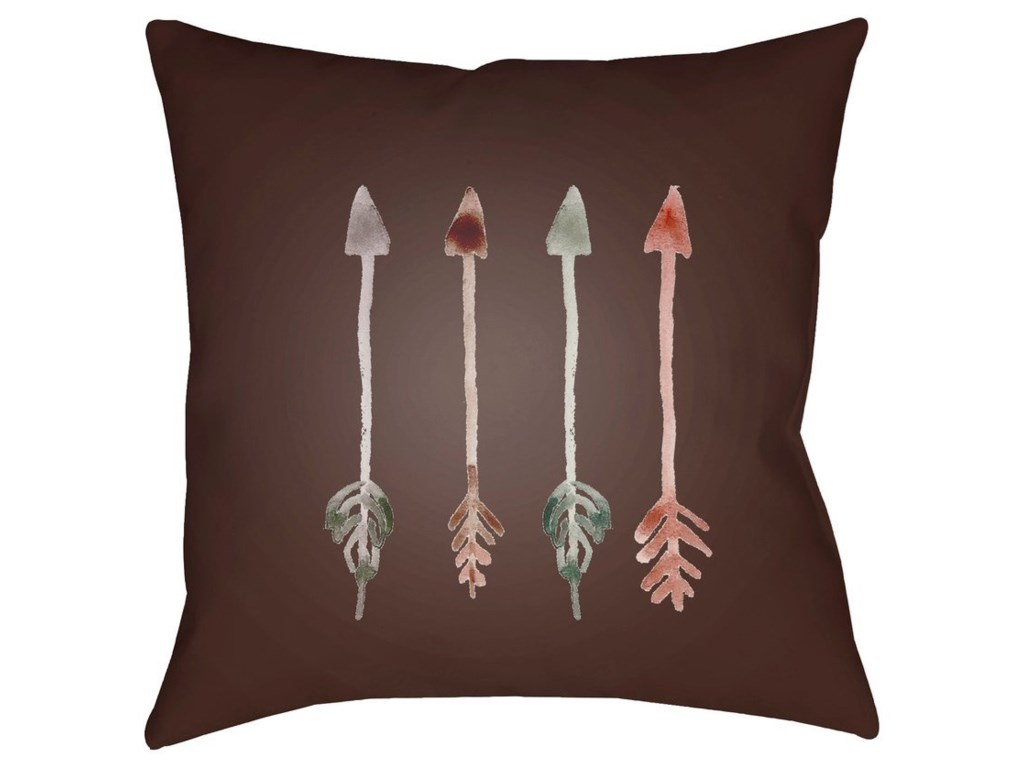 Surya Arrows18 x 18 x 4 Polyester Throw Pillow