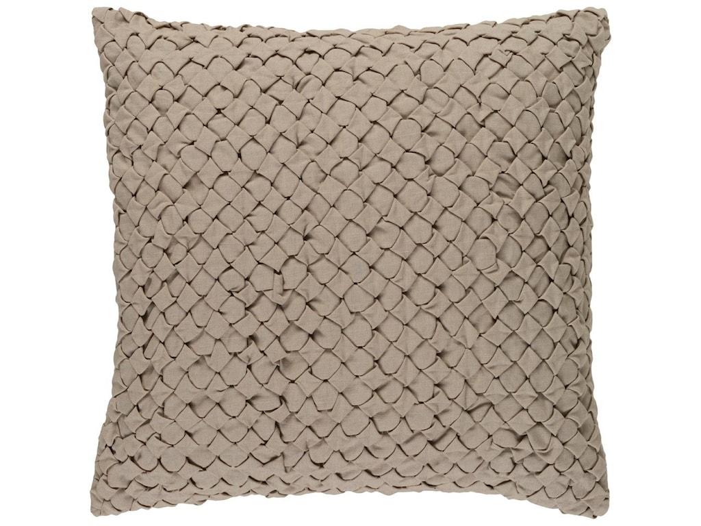 Surya Ashlar20 x 20 x 4 Down Throw Pillow