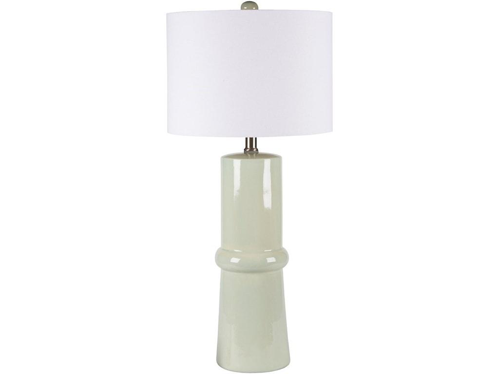 Surya AvaSpa Blue Crackle Modern Table Lamp