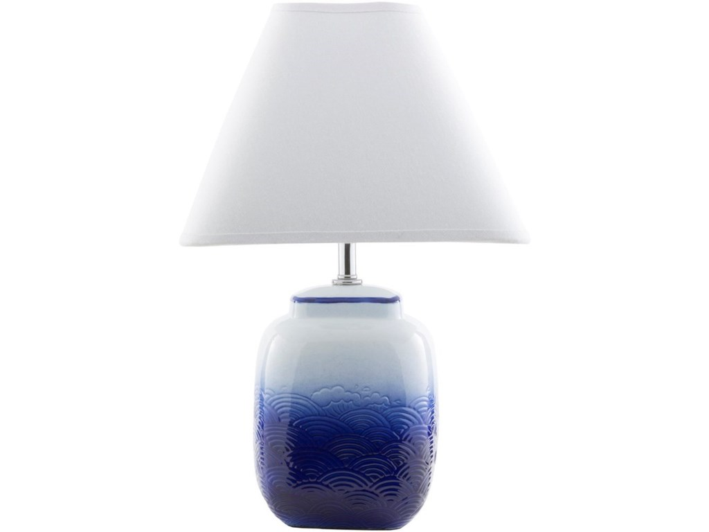 Surya AzulOmbre Blue Modern Table Lamp