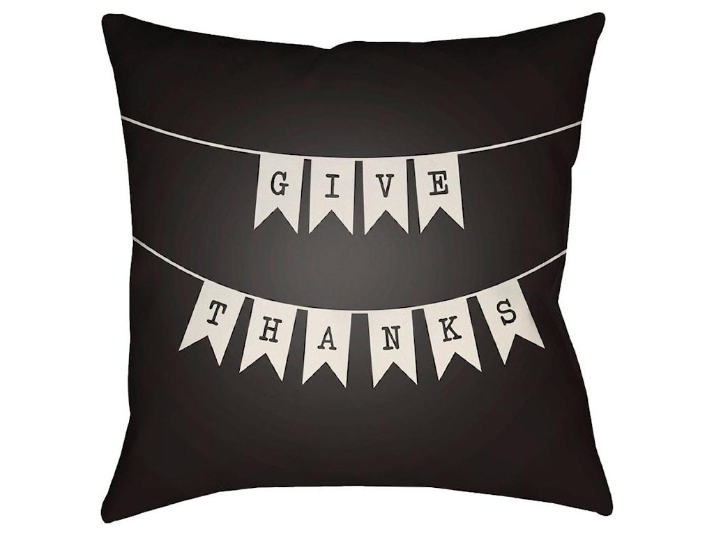 Surya Banner18 x 18 x 4 Polyester Throw Pillow