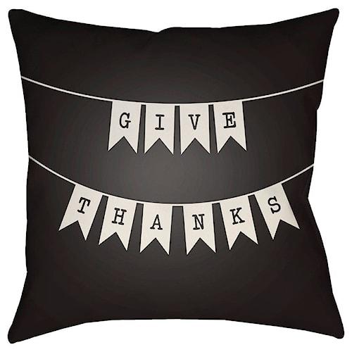 Surya Banner 18 x 18 x 4 Polyester Throw Pillow