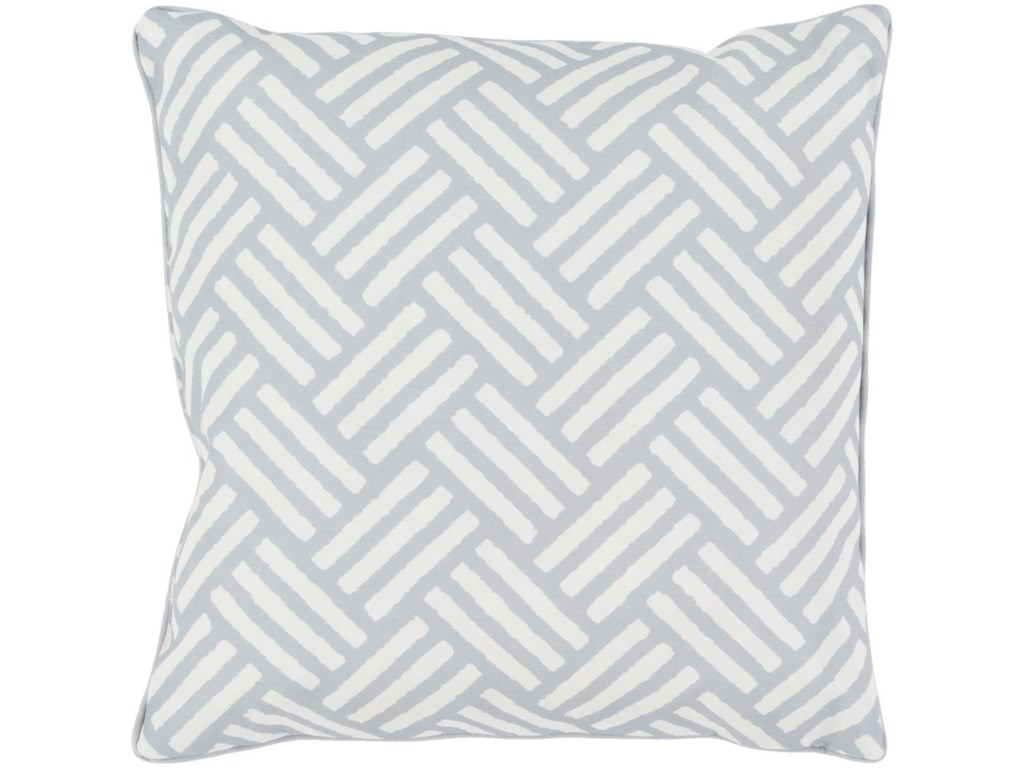 Surya Basketweave16 x 16 x 4 Polyester Throw Pillow